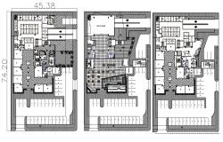 Hotel Plan Design AutoCAD file