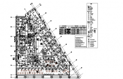 Hotel and resort architectural layout plan dwg file
