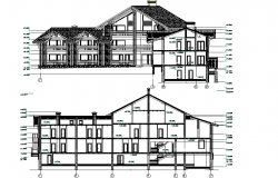Hotel and resort elevation