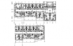 Hotel architectural plan dwg file