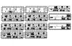 Hotel building design 41.60mtr x 8.93mtr with detail dimension in dwg file