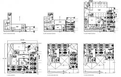 Hotel building design CAD drawing