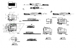 Hotel building structure detail elevation and plan layout autocad file