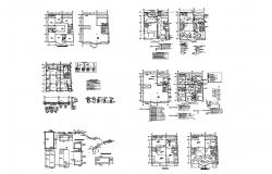 Hotel building with foundation plan in dwg file