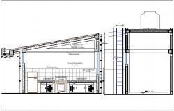 Hotel café detail plan view dwg file