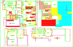 Hotel complex 3d dwg file