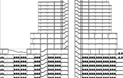 Hotel offices and shopping development elevation design
