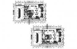Hotel plan in layout in dwg file