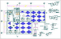 Hotel restaurant floor plan detail dwg file