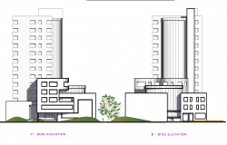 Hotel section elevation plan detail dwg file