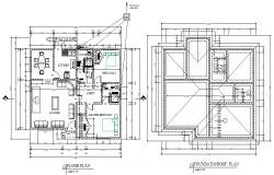 House 10 x 20 mtr plan dwg file