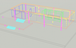 House 3 D detail dwg file