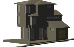 House 3 D plan detail