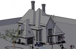 House 3 D plan detail
