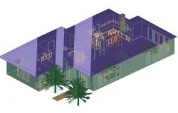 House 3 d autocad file