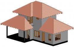 House 3D Model DWG File