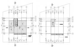 House Area Leveling Plan AutoCAD Drawing