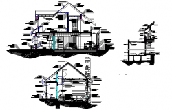 House Construction sections detail dwg file
