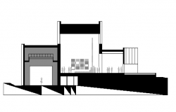 Residence Section plan dwg file