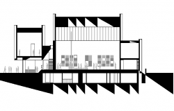 House Section plan dwg file.
