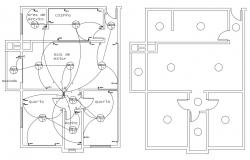 House Electrical Layout Plan DWG File
