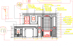 House Elevation design dwg file