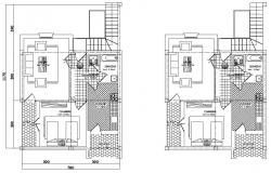 House Layout Plan AutoCAD Drawing