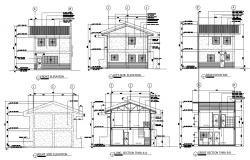 House Plan Elevation Section