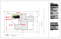House Plan Lay-out detail with Plot Size