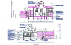 House Section CAD drawing