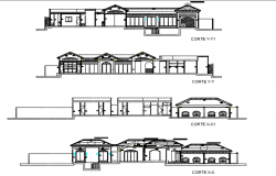 House Section detail dwg file