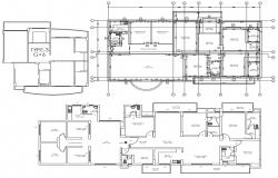 House With Office Plans DWG File