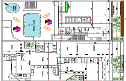 House With Pool on The Upper Floor Design, Structure Details dwg file