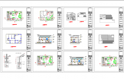 House architecture drawing in cad