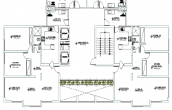 House architecture layout plan of residential building dwg file
