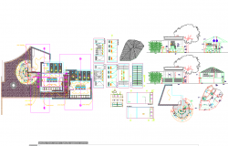 House architecture projects detail drawing in cad dwg files
