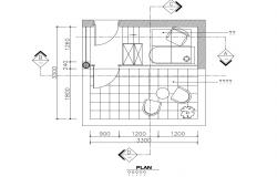 House balcony top view plan cad drawing details dwg file