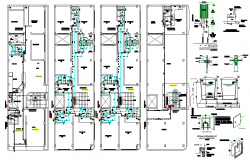 House building layout and sanitary detail dwg file