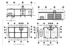 House center line plan detail dwg file
