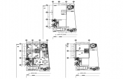 House design  8.53mtr x 13mtr with detail dimension in dwg file