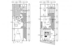 House design 4.30mtr x 12.20mtr with detail dimension in dwg file