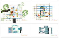 House design drawing with modern tendency