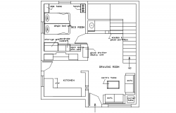 House design plan in dwg file
