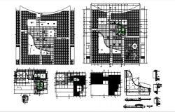 House design plan with detail diemension in dwg file