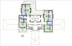 House design plan with detail dimension in autocad