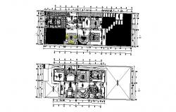 House design plan with detail dimension in dwg file
