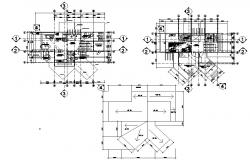 House design plan with furniture details in dwg file