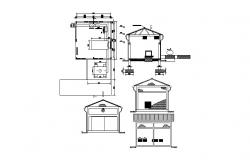 House design with a detail dimension in dwg file