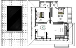 House design with detail dimensiom in autocad