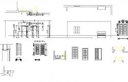 House doors and windows elevation and installation details dwg file